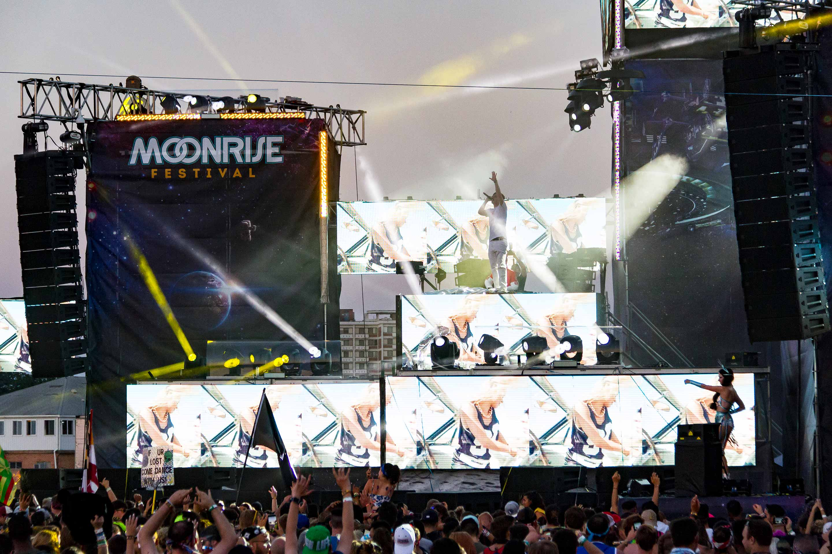 Yellow Claw Performing at the Stellar Stage at the 2017 Moonrise Festival