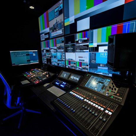 America Media Broadcast Control Room