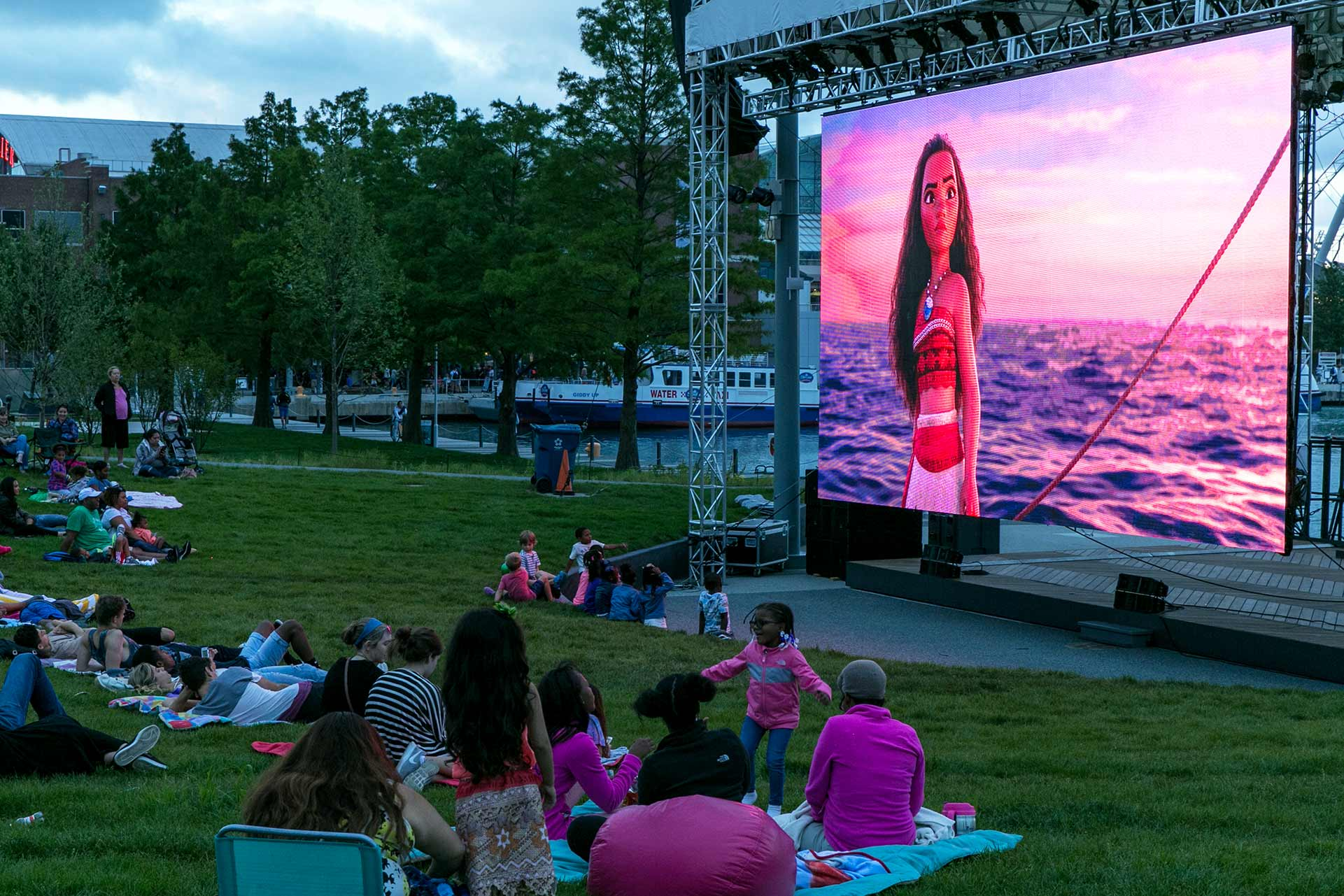 Absen C7 LED Wall at the Polk Bros Park Performance Lawns