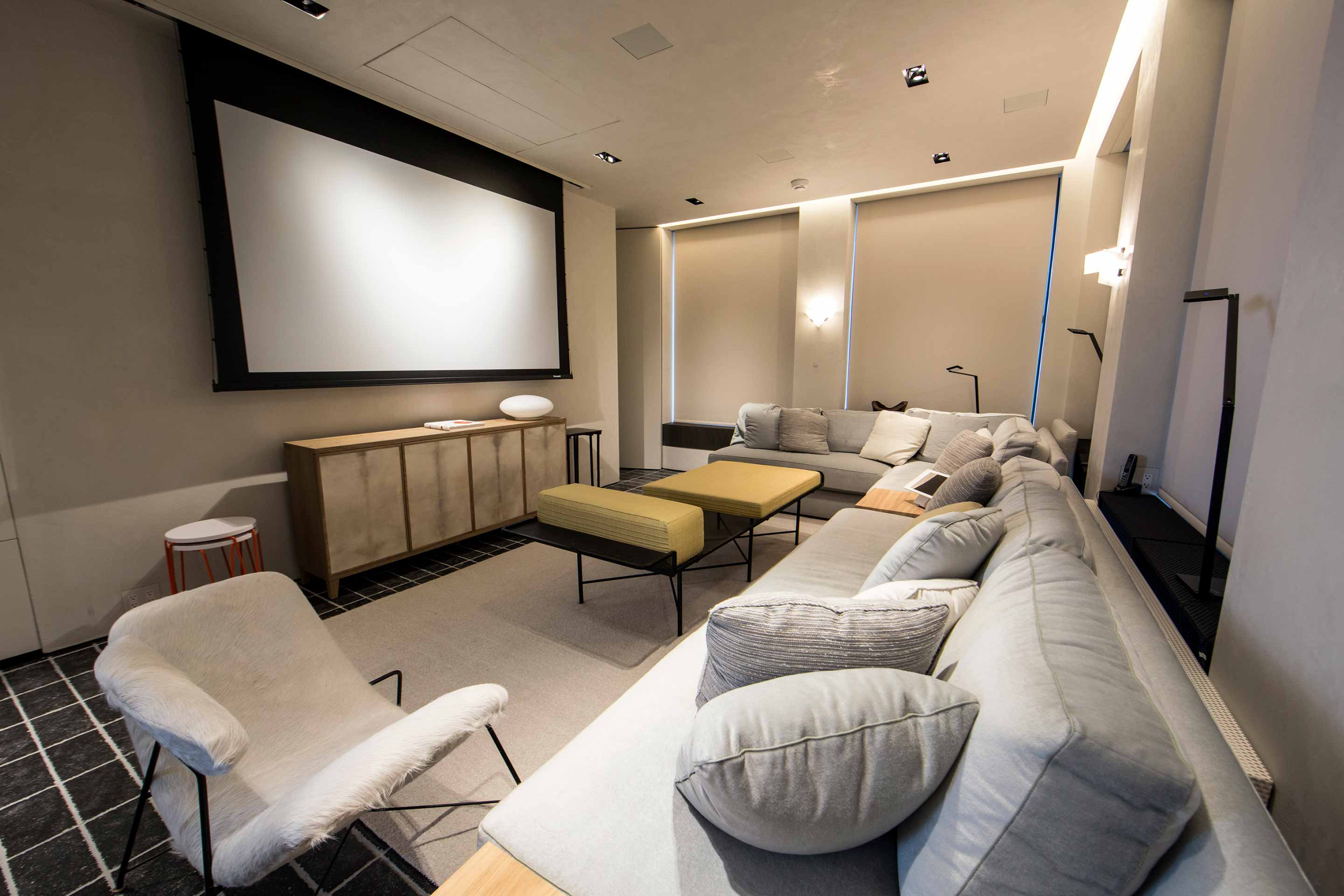 Home Theater with Lutron Black-Out Shades
