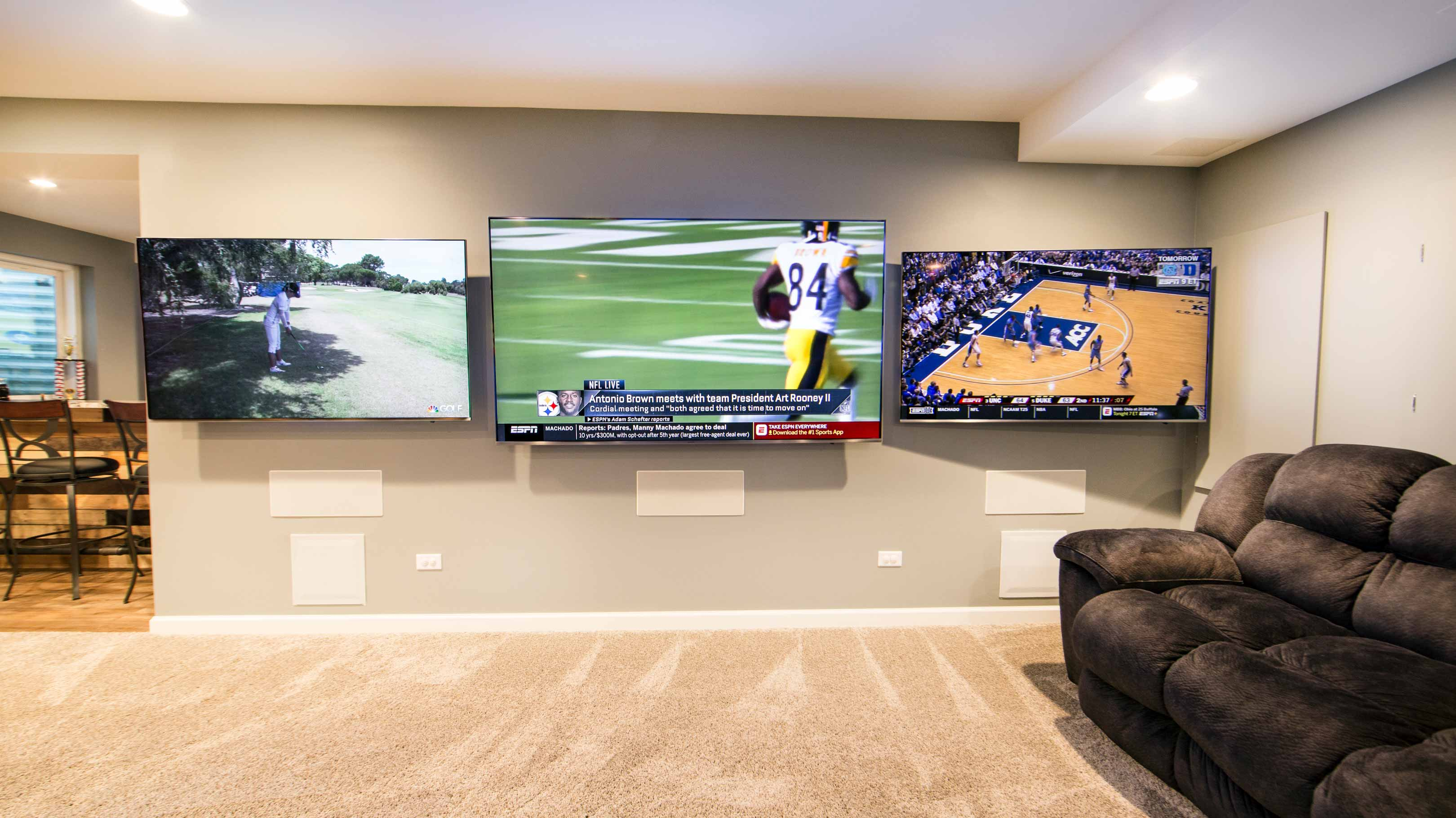 Residential Multi-View Display Wall